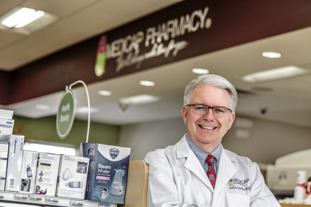 John Forbes in Medicap Pharmacy