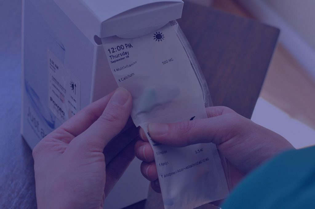 Leading pouch packaging simplified medication compliance