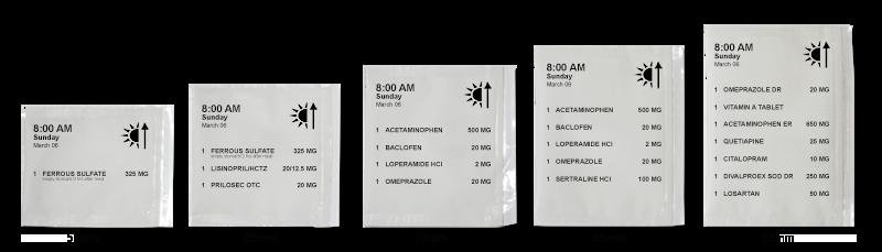 Parata PASS Packs Variable Sizes